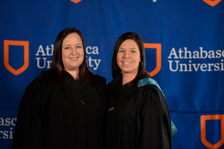 image of both willan sisters at convocation