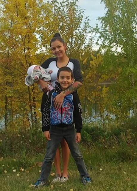 sasha with baby and child