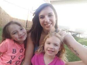 Tasha Lapshinoff and her daughters.