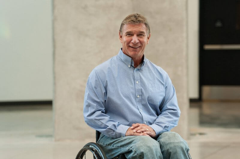 Rick Hansen, founder of the Rick Hansen Foundation, has been awarded an honorary doctorate from Athabasca University.