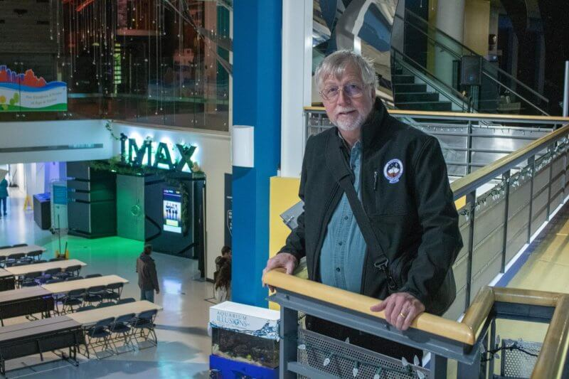Athabasca University astronomy professor Dr. Martin Connors at the Telus World of Science in Edmonton Oct. 22 before speaking to a group of astronomy enthusiasts about how to die on the way to Mars.