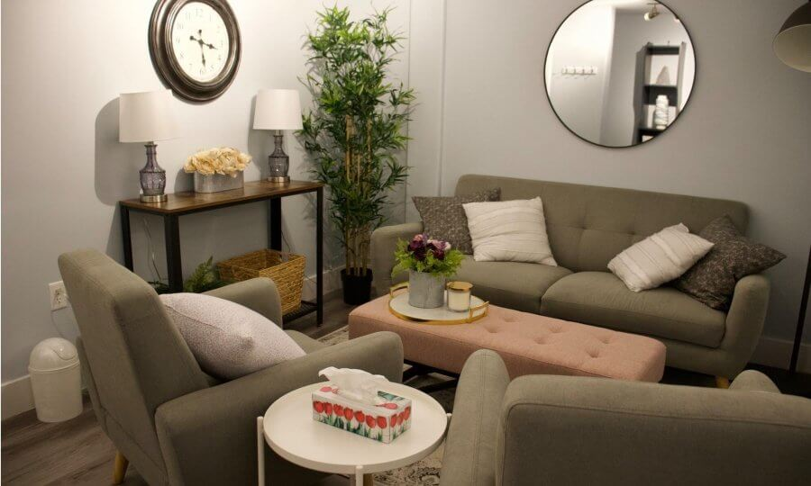 Stephanie's therapy room at Beyond the Bridge Therapy Centre