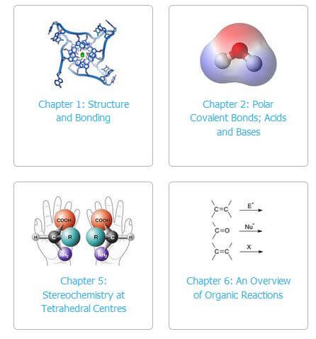 A screenshot of the online textbook for Athabasca University's CHEM 350: Organic Chemistry I