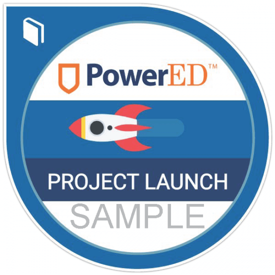 PowerED Project Launch digital badge