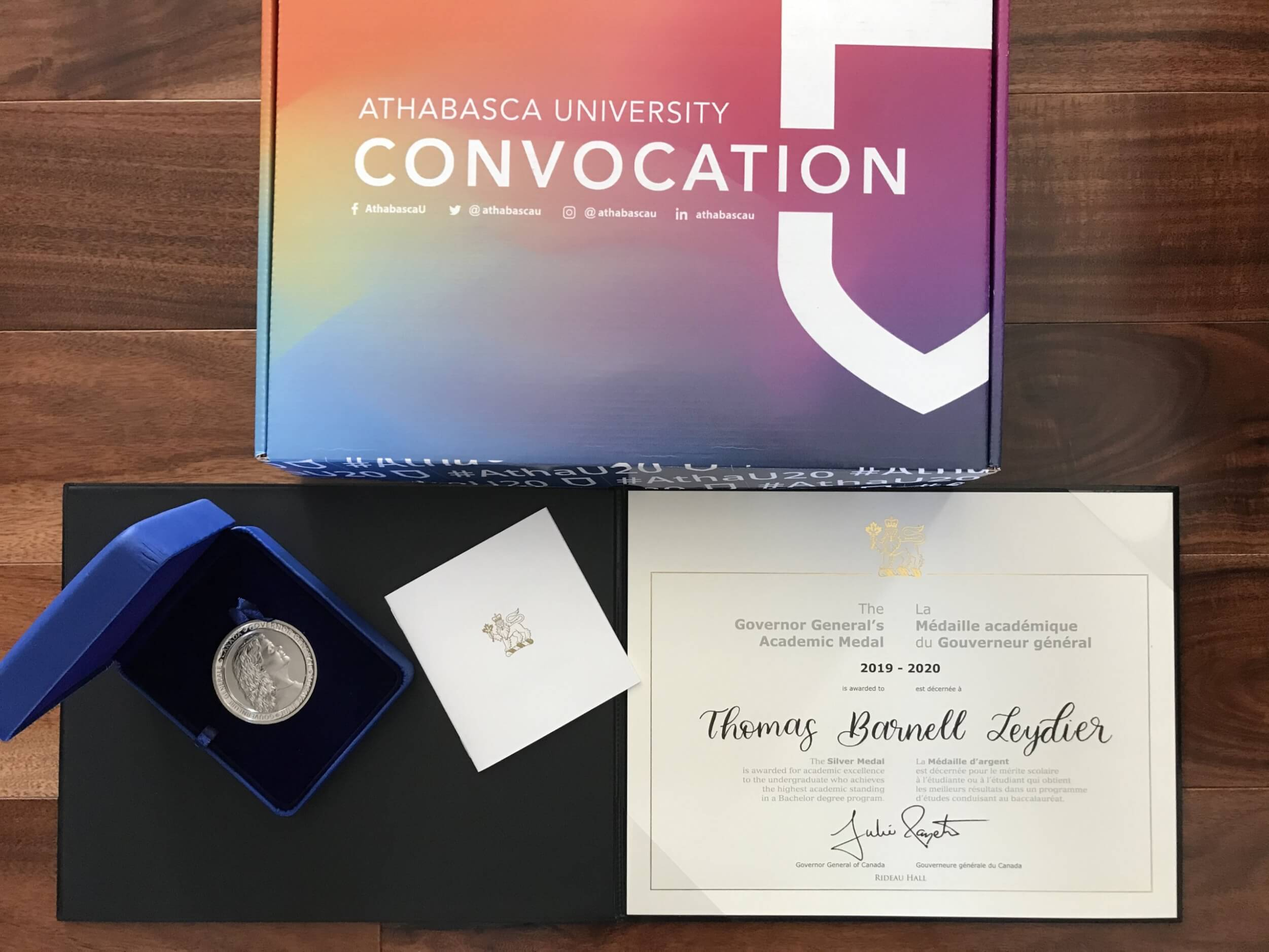 2019-2020 Governor General's Academic Silver Medal