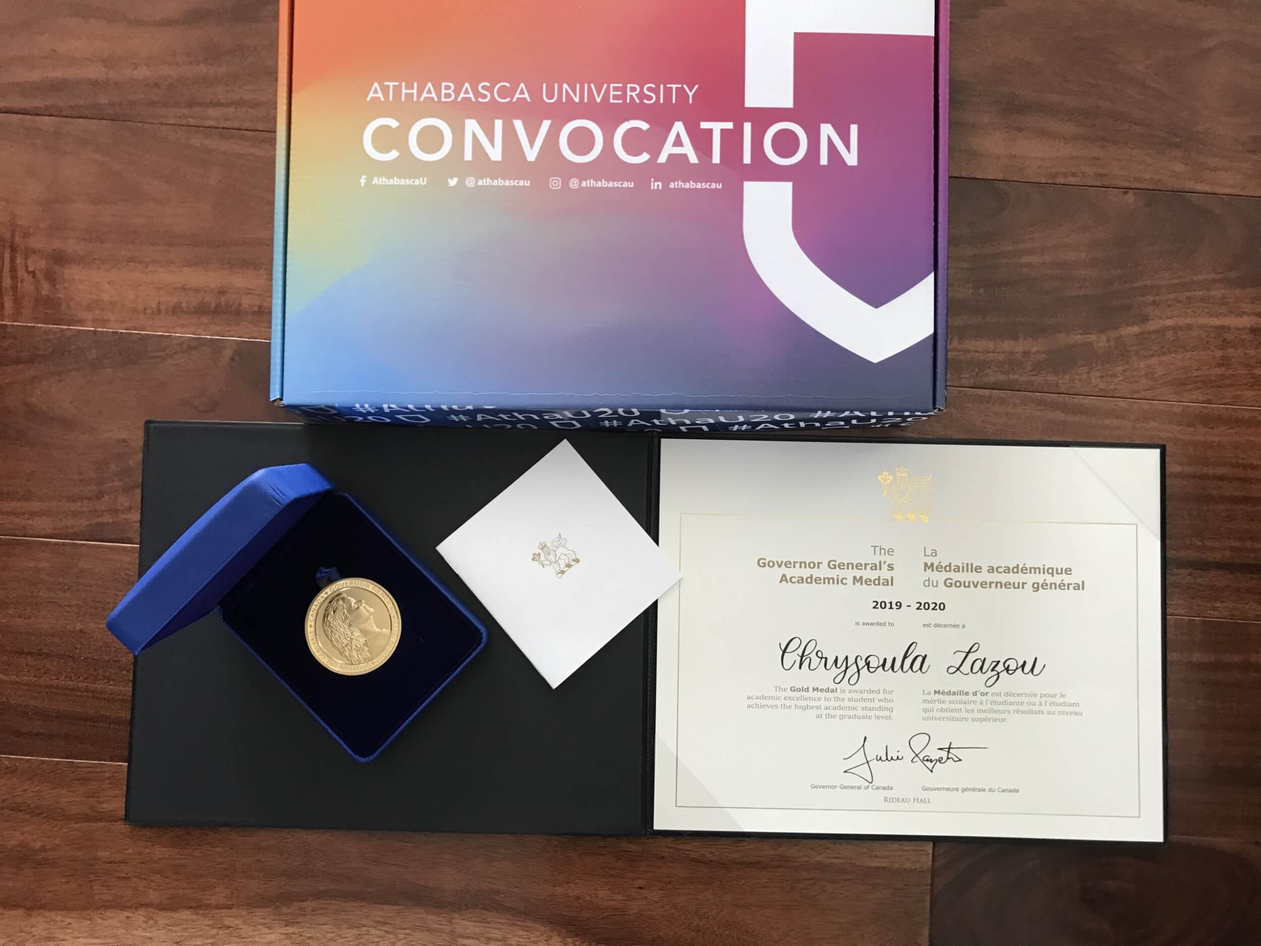 The Governor General's Academic Gold Medal