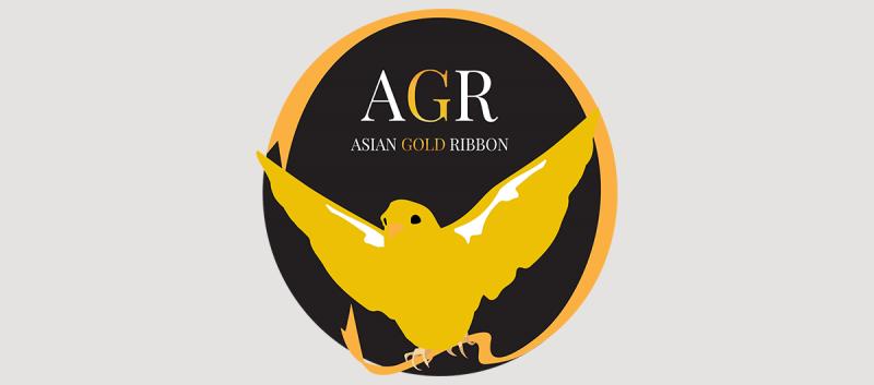 Asian Gold Ribbon logo