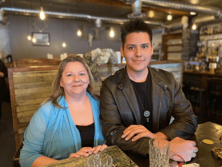 DeAnne Lightning and her son, Talon Lightning