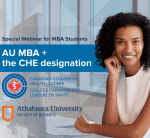Special live webinar: AU MBA and the CHE designation